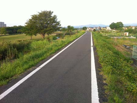 河原のジョギングコース