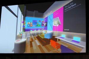 Surface 2ショールームのイメージ図。ちょっと狭いかも……
