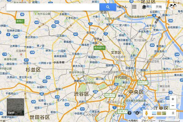 3D化されているのは、東京と千葉、神奈川、仙台の主要エリア
