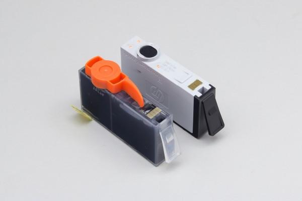 ICチップの比較。インクを使い終わったらチップを剥がし、より安い互換インクに使うというワザもある