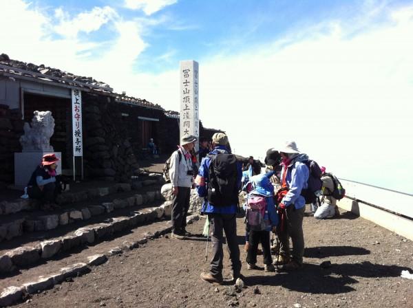 2012年に参加したときの様子。小学1年生でも無事に登頂できました