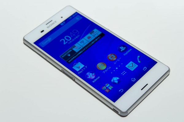 Xperia Z3のホワイトモデル