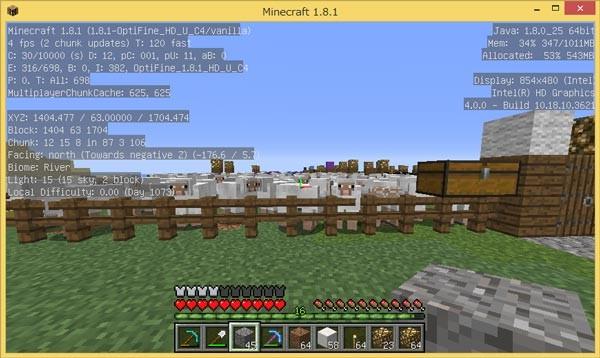 羊牧場ではあいかわらずの4FPS