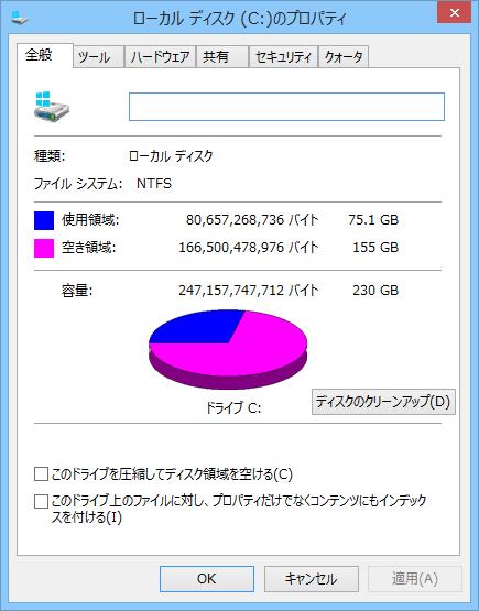 ちょっと極端ですが、写真や動画を外付けハードディスクへ移動したり不要なソフトをアンインストールすることで、空き容量が18倍に増えました