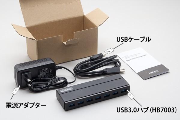 「Inateck HB7003」の箱の中身