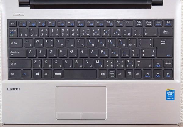 「LuvBook J」のキーボード
