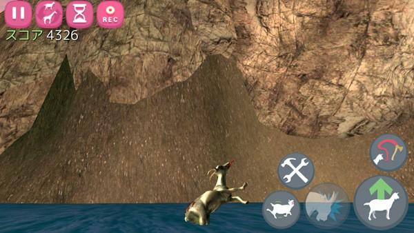 崖から海へ落ちました