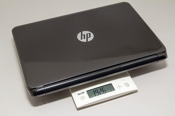 重量は実測値で1.92kgでした