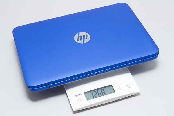実際の重量を計測したところ、1.268kegでした