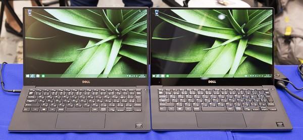 左が1920×1080ドットのフルHDモデルで、右が3200×1800ドットの3Kモデル