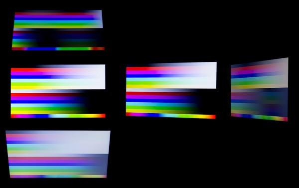 視野角も広めでした ※イメージしやすいように複数の写真を合成しています