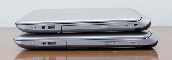15.6型よりも17.3型のほうがやや厚めではあるものの、3mmの差は体感できるほどではありませんでした