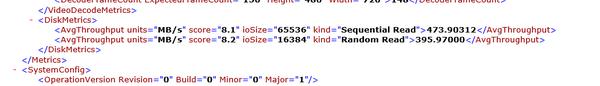 「Windowsシステム評価ツール」を使った結果では、シーケンシャルリードで473.9MB/秒という結果が出ています