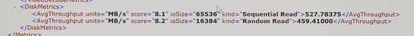 「Windowsシステムう評価ツール」によると、SSDのシーケンシャルリードは578.22MB/秒とのこと