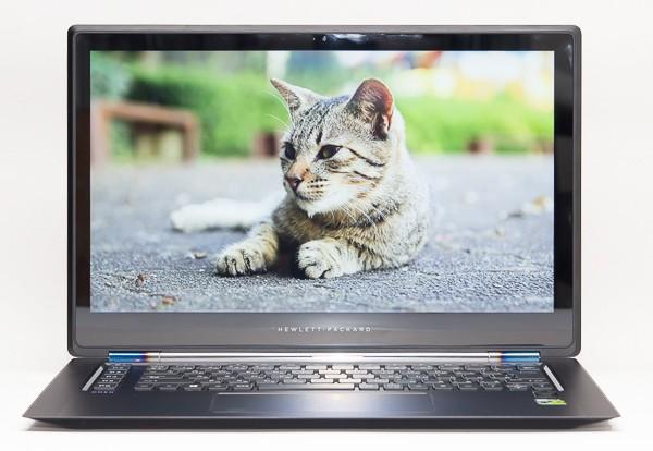 15.6型で1920×1080ドットの液晶ディスプレイ。写真は自然な色合いで映し出されます