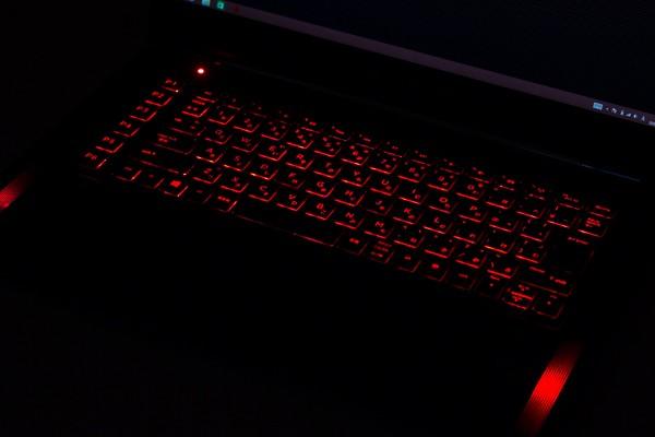 実際のキーボードバックライト