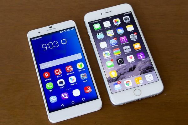 honor6 PlusとiPhone 6 Plus