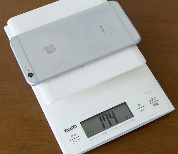 iPhone 6 Plusは174gでした
