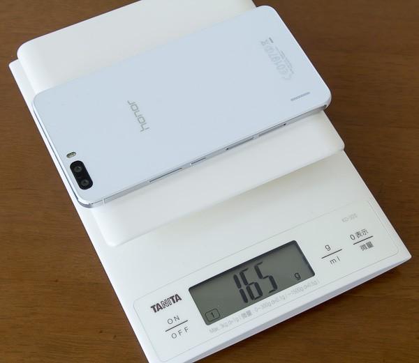 honor6 Plusの重量は実測で165g