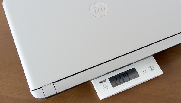 重量は実測で2.23kg