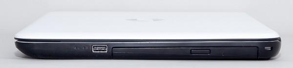 左側面はUSB3.0端子×1と光学ドライブを配置