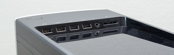 電源ボタンやUSB端子などは、本体上面に配置