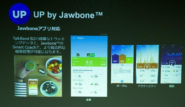 取得したデータはJawbone向けのアプリでも利用できます