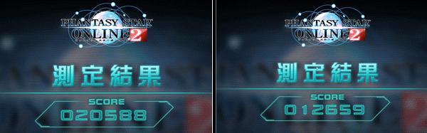 「PSO2キャラクタークリエイト体験版」ベンチマーク結果。左が簡易描画モード「3」で、右が簡易描画モード「5」