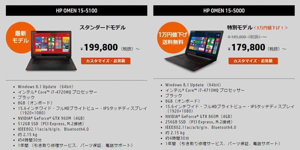 旧モデルが1万円値下げ&送料無料で販売されています