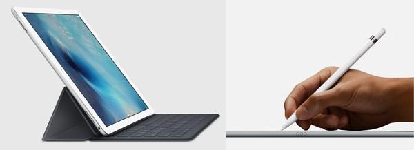 キーボードカバー「Smart Keyboard」とスタイラスペン「Apple Pencil」
