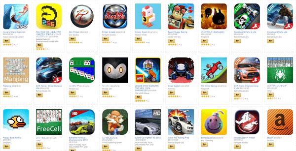 「Amazon Fire TV Stick」対応の無料ゲームは、2015年9月25日の時点で253本でした