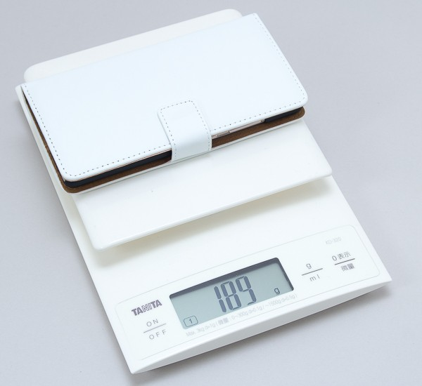 端末との合計重量は、実測で189gでした