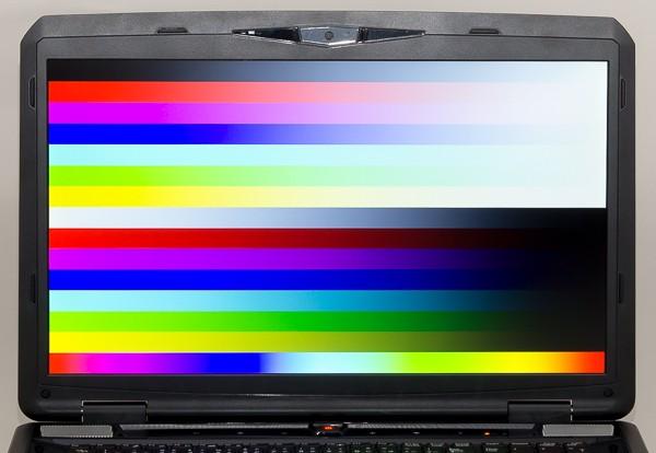 やや青みがかった色合いですがノートパソコンとしては普通で、気になるレベルではありません
