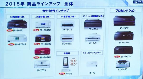 2014年モデルの一部が継続販売されているものの、EP-907AやEP-777Aなどの機種はラインナップから消えました