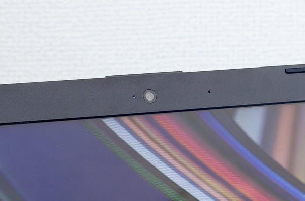 液晶ディスプレイ上部にあるWebカメラの有効画素数は約92万画素です