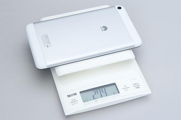 重量の実測値は274gでした