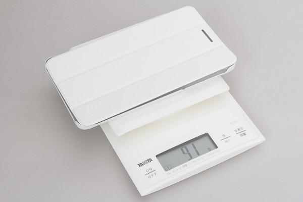 カバー単体の重さは、実測で91g