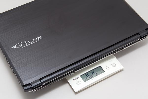 重量は実測で2.625kgでした