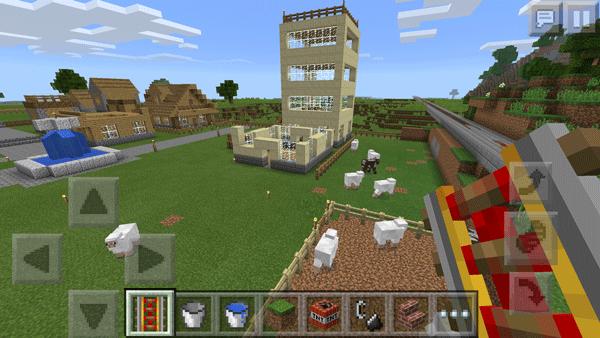 マインクラフトPEで作りかけの村。操作しやすいWindows 10版で作業を再開しようかと考えています