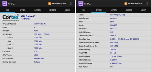 「CPU-Z」によるシステム情報