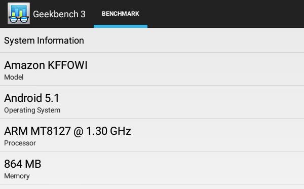 「Geekbench 3」によるシステム情報