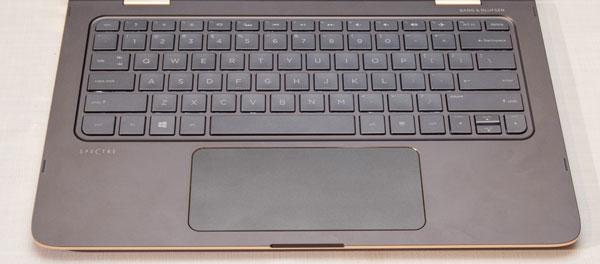 HP Spectre 13 x360 Limited Editionのキーボード。写真は英語仕様ですが、国内モデルは日本語仕様です