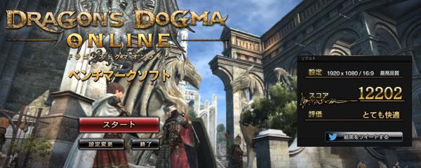 「ドラゴンズドクマオンライン ベンチマークソフト」の結果