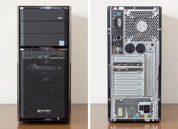 MDV-GZ7700B-SH2のフロントパネル(左)とバックパネル(右)
