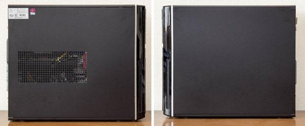 左サイドパネル(左)と右のサイドパネル(右)