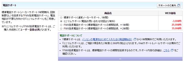 ミニマムサポートを適用することでさらに3000円割り引きとなりますが、電話サポートが有料となる点に注意してください