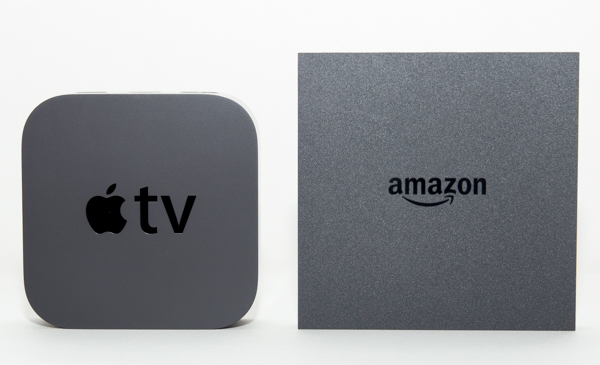 Apple TV(左)とFire TV(右)