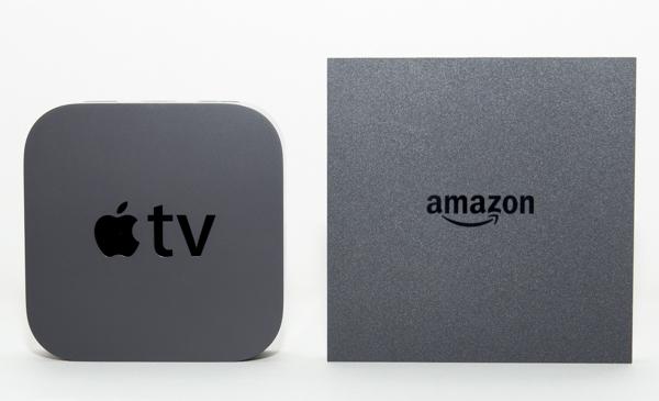 Apple TV(左)とFire TV(右)