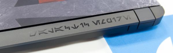 本体にもオーラベッシュによる文字がプリントされています。これは「銀河帝国(Galactic Rmpire)」の意味