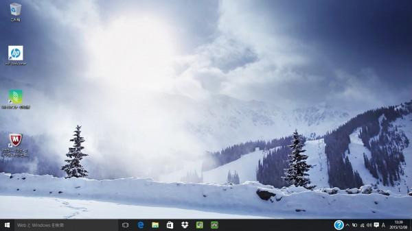 HP Stream 11-r000標準時のデスクトップ ※画像クリックで拡大します